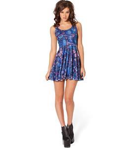 Midnight Owl Skater Dress, Owls Pattern Reversible Dress, The Forest Owls Mini Dress, #N8743