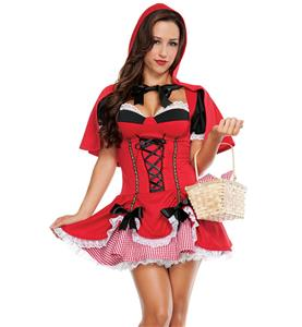 Red Riding Hood Costume, Little Red Riding Hood, Adult Red Riding Hood Costume, #N9195