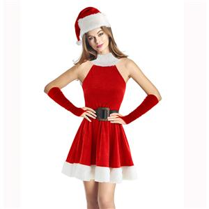 Adult Miss Santa Claus Womens Christmas Costume XT15028