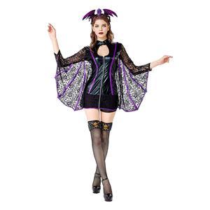 Sexy Bat Costume, Womens Bat Costume, Halloween Costume, Cheap Bat Costume,Bat Adult Cosplay Costume, Halloween Costume,Mini Party Dress Cosplay Costume, #N11788