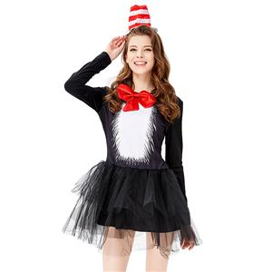 Sexy Halloween Costumes , Cat in the Hat Cosplay Costumes, Movie Role Women