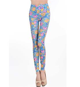 Multicolour Flowers Print Leggings L6991