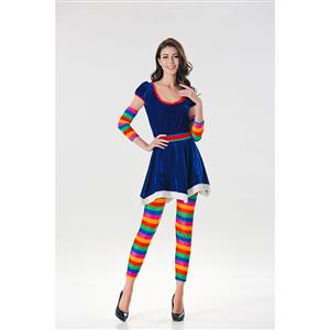 Naughty Adult Colorful Halloween Cosplay Costumes N17993