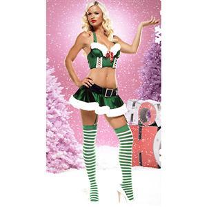 Naughty Miss Santa Bustier Set, Holiday Bustier and Skirt Set, Velvet Bustier and Skirt Set, #XT4705