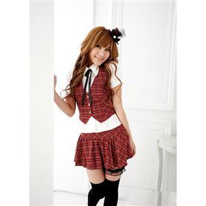 Women Sexy Schoolgirl Costumes, Sexy Schoolgirl Costumes, School Girl Outfits, #M2751