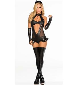 Naughty Cat Costume in Black, Sexy Black Cat Costume, Scratch Cat Costume, Black Teddy Cat Costume, #N10412