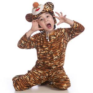 Tiger Jumpsuit Romper Children, Halloween Tiger Costume, Children Tiger Costume, #N6322