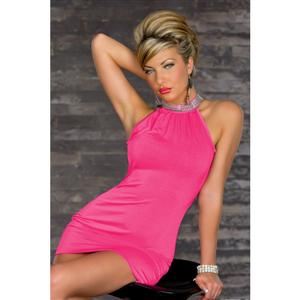 clubwear-Sexy Dress, Neck Sequin Decoration Dress, OL Style Dress, #N5752