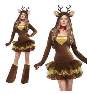 New Adult Fever Reindeer Christmas Costume XT9835