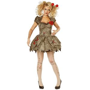 Sexy Girls Terror New Ghost Doll Mini Dress Party Masquerade Halloween Costume N19552