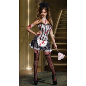 Fancy Bloody Mary Cosplay costumes, New Sexy Halloween Party Vampire Devil Costumes, New bloody Mary Maid Devil Take Party Costumes, #N9374