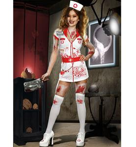 Walking Dead Nurse Crazy Costume, Sexy Zombie Nurse Costume, Amok Nurse Costume, #N9157