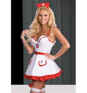 Heart Breaker Nurse Costume, Sexy Nurse Halloween Costume, Nurse Outfits for Adults, #N4847