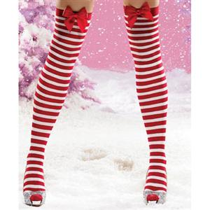 Santa Stockings, Nylon Striped Thigh Highs, Sexy Christmas Stockings, Stockings wholesale, #HG2199