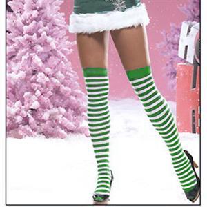 Santa Stockings, Nylon Striped Stockings, Sexy Christmas Stockings, Stockings wholesale, #HG2202