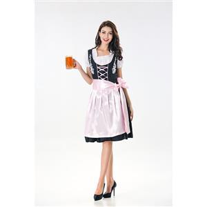 Traditional Bavarian Beer Girl Adult Cosplay Oktoberfest Costume N18042