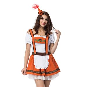 German Oktoberfest Beer Wench Costume, Fancy Beer Girl Costume, Milk Maid Costume, Halloween Costume, #N12964