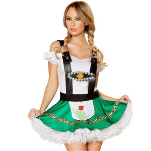German Oktoberfest Beer Wench Costume, Fancy Beer Girl Costume, Milk Maid Costume, Halloween Costume, #N11905