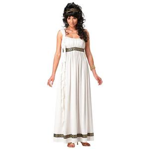 Beige Goddess Costume, Greek Goddess Halloween Costume, Grecian Goddess Adult Costume, Olympic Goddess Cosplay Costume, Sanitess Adult Costume, #N17744