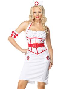 On Call Nurse Costume, Sexy Nurse Halloween Costume, Nurse Costume, #M3189
