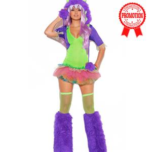 One Eyed Monster Costume, Purple Furry Monster Costume, Sexy Monster Costume, #N5990