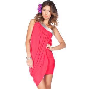 Asymmetrical Club Dress, One Shoulder Dress, One Shouldered Dress, One Shoulder Mini Dress, #N4530
