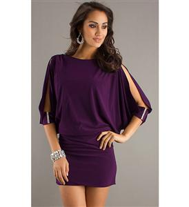 length sleeves Mini Dress, Open sleeves Orchid Dress, Orchid Dress, #N5612