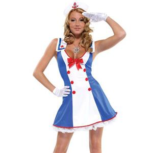 Overboard Sailor Girl Costumes, Nautical Cutie Costume, Sexy Sailor Costume, #N7947