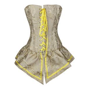 Retro Yellow Corset with Skirt, Women