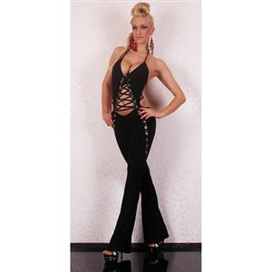 Black Jumpsuit For Ladies, Sexy Black GoGo Overall Jumpsuit , Party Black Jumpsuit, #N5907