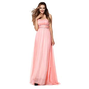 A-line Prom Dresses, Lovely Pearl Pink Graduation Dresses, Cheap Party Dresses, Hot Sale Lady Dresses, Chapel Train Prom Dresses, #Y30052