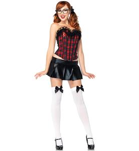 Peppy Schoolgirl Costume Kit, Preppy School Girl Costume Kit, Plaid Schoolgirl Kit, #N8203
