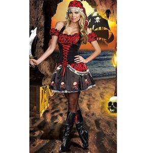 Pirates Passion Costume, Pirate Costume, Skull and Crossbone Pirate, #N4754
