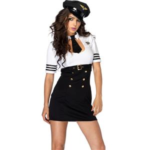First Class Captain Costume, Womens Captain Costume, Womens Pilot Costume, #CP1675