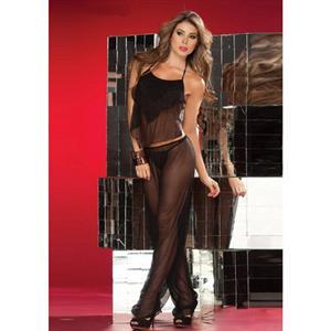 Chiffon Top and Pants, Top and Pants, Top and Pants Black, #M1677