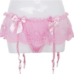 Pink Lace Garter, Sexy Lace Garter, Lace Garter, #PT7396