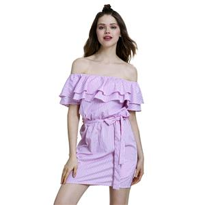 Sexy Off Shoulder Mini Dress, Sexy Mini Dress, Mini Dress for Women, Striped Mini Dress, Cap Sleeve Sexy Dress, #N14515