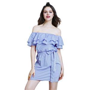 Sexy Off Shoulder Mini Dress, Sexy Mini Dress, Mini Dress for Women, Striped Mini Dress, Cap Sleeve Sexy Dress, #N14516