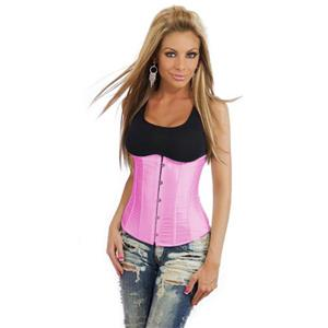 Underbust corset, sexy corset, Pink underbust corset, #N2814