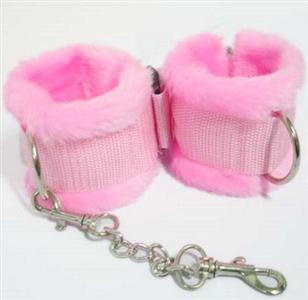 Wrist restraints, Pink wrist restraints, Fur wrist restraints, #MS7148
