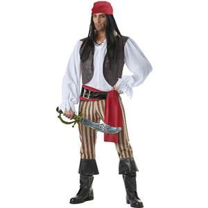 Pirate Rogue Costume, Pirate Costume for Men, Men