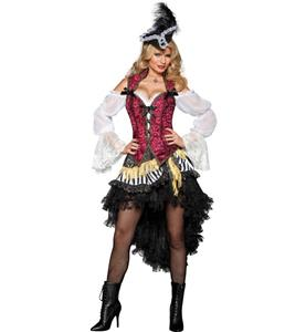 Pirates Treasure Adult Costume, High Seas Treasure Adult Costume, Sexy High Seas Pirate Costume, #P6810