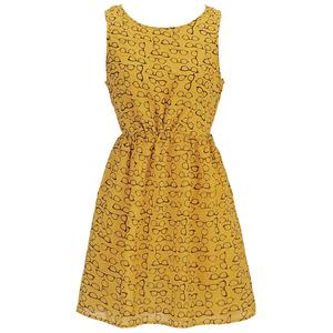Fashion Loose Dresses for Women, Yellow Loose Vest Dress For Women, Women