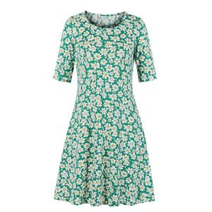 Fashion Printed Day Dress, Elegant Dress,Plus Size Printed Summer Dress for women, Country style Dress for Women, Vintage Dresses for Women, Spring Dresses for Women, Half Sleeve Dress, #N19207