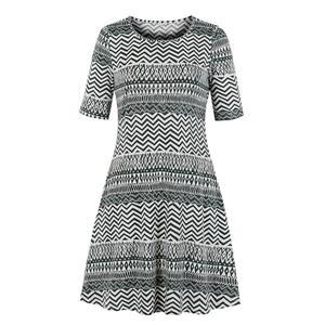 Casual Ethnic Style Boho Print Day Dress, Vintage Ethnic Style Print Dress,Plus Size Printed Summer Dress for women, Country style Dress for Women, Vintage Dresses for Women, Spring Dresses for Women, Half Sleeve Dress, #N19217