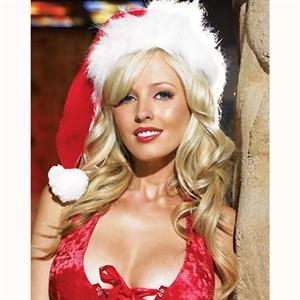 Plush and Velvet Santa Hat, Santa Hat wholesale, #HG2205
