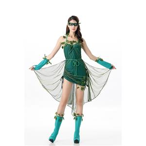 Lethal Poison Ivy Costume Halloween Outfit Dress N11683
