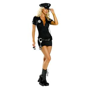 Sexy lingerie, Sexy Leather Police Costume, Armed and Dangerous Cop Costume, #P2113