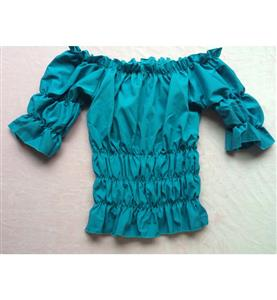 Popular Hot Sale Turquoise Cotton Shirt N10571