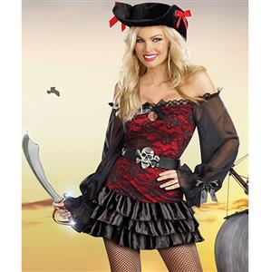 Precious Booty Costume, Lace Pirate Costume, Pirate Booty Costume, #N5908